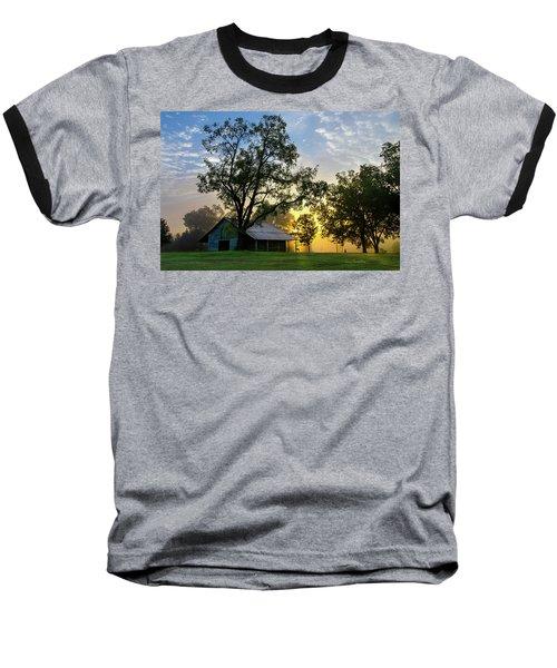 Sunrise At The Farm Baseball T-Shirt by George Randy Bass