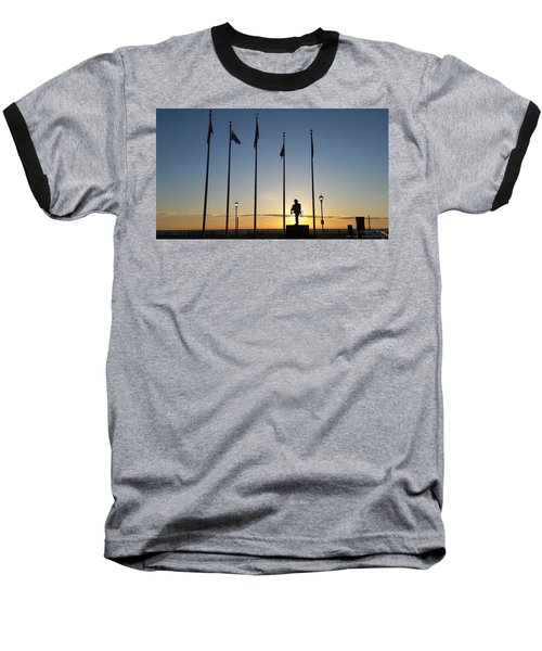 Sunrise At The Firefighters Memorial Baseball T-Shirt