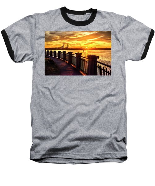 Baseball T-Shirt featuring the photograph Sunrise At The Harbor by John Poon