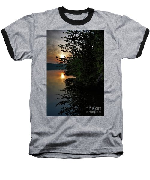 Baseball T-Shirt featuring the photograph Sunrise At The Lake by Henry Kowalski