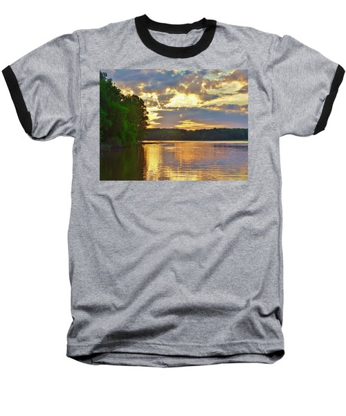 Sunrise At The Landing Baseball T-Shirt