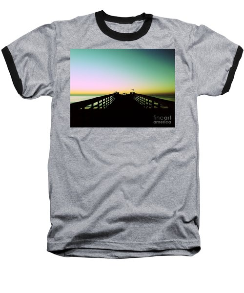 Sunrise At The Myrtle Beach State Park Pier In South Carolina Us Baseball T-Shirt by Vizual Studio
