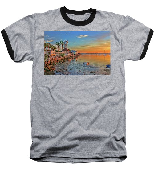 Sunrise At The Pier Baseball T-Shirt