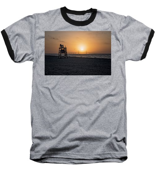 Sunrise At The Skyway Bridge Baseball T-Shirt
