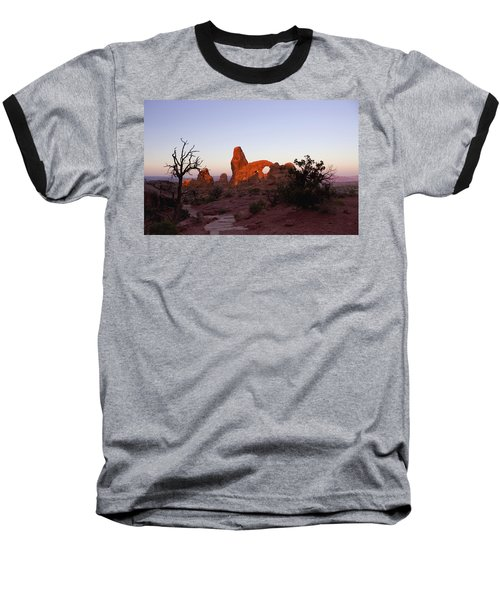 Sunrise At Tower Arch Baseball T-Shirt