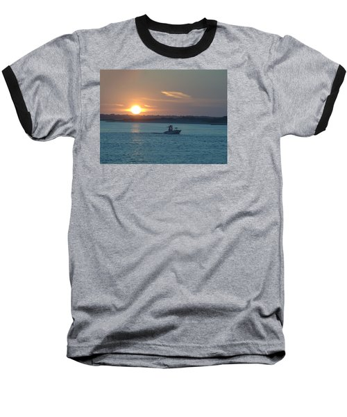 Sunrise Bassing Baseball T-Shirt by  Newwwman