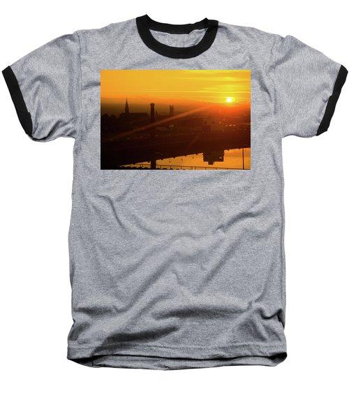 Sunset Belfast Baseball T-Shirt