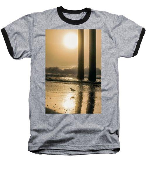 Baseball T-Shirt featuring the photograph Sunrise Bird At Beach  by John McGraw