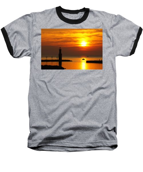 Sunrise Brushstrokes Baseball T-Shirt