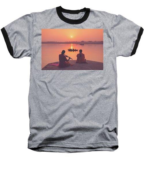 Sunrise By The Ganges Baseball T-Shirt