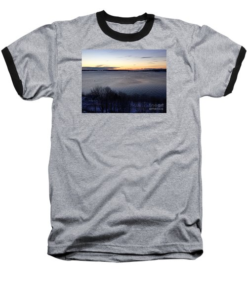 Sunrise Casco Bay January 21, 2016  Baseball T-Shirt by Patricia E Sundik