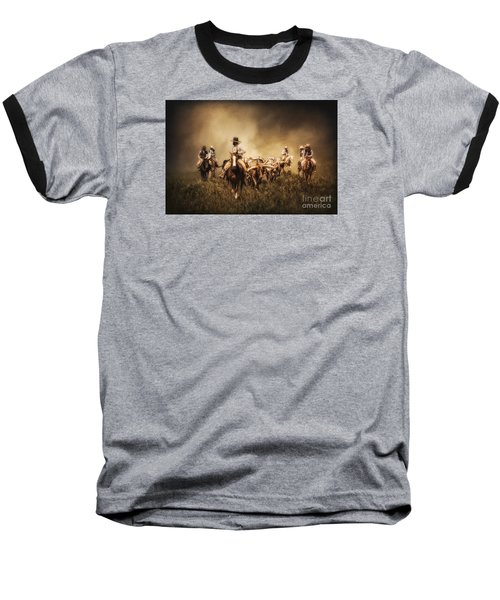 Sunrise Cattle Drive Baseball T-Shirt