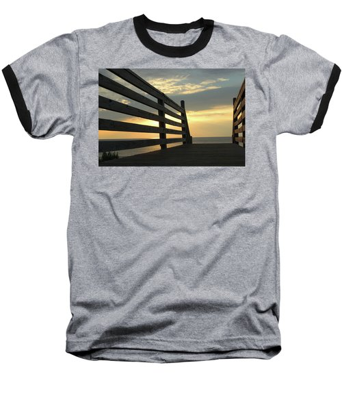Sunrise Baseball T-Shirt by David Stasiak