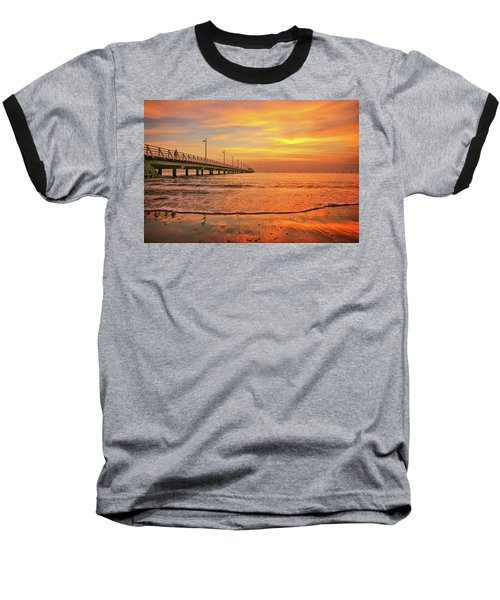 Sunrise Delight On The Beach At Shorncliffe Baseball T-Shirt
