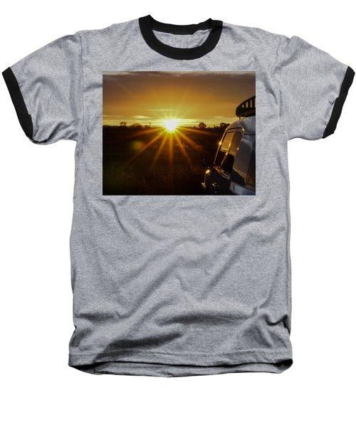 Sunrise And My Ride Baseball T-Shirt by Jeremy McKay