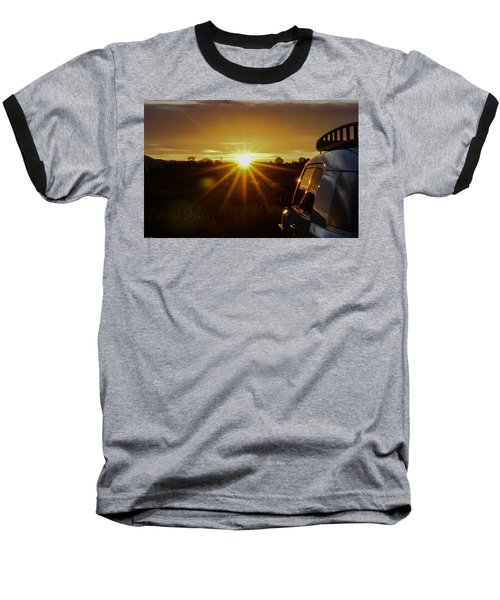 Sunrise And My Ride Baseball T-Shirt