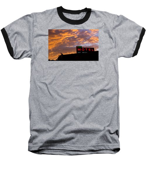 Sunrise Enters Capitola Baseball T-Shirt by Lora Lee Chapman