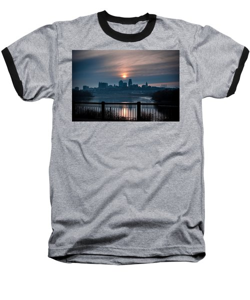 Sunrise From Kaw Point Baseball T-Shirt