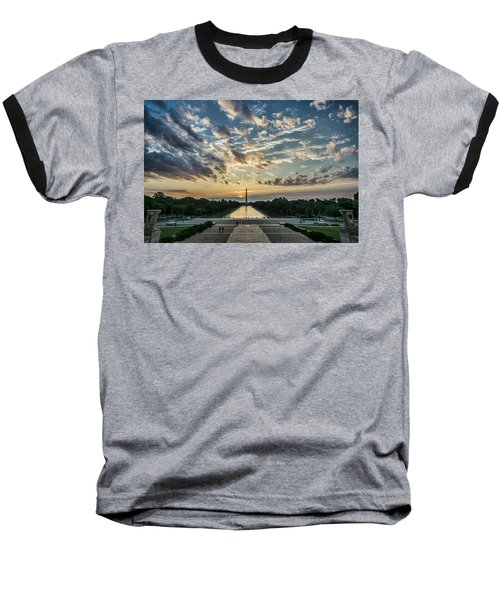 Sunrise From The Steps Of The Lincoln Memorial In Washington, Dc  Baseball T-Shirt
