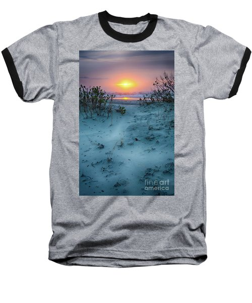 Baseball T-Shirt featuring the photograph Sunrise Hike On The Outer Banks by Dan Carmichael