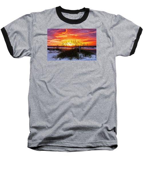 Sunrise Hilton Head Beach Baseball T-Shirt by Paul Mashburn