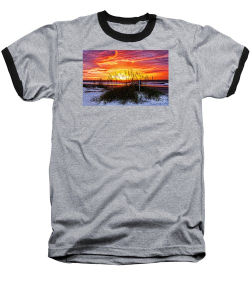 Sunrise Hilton Head Beach Baseball T-Shirt