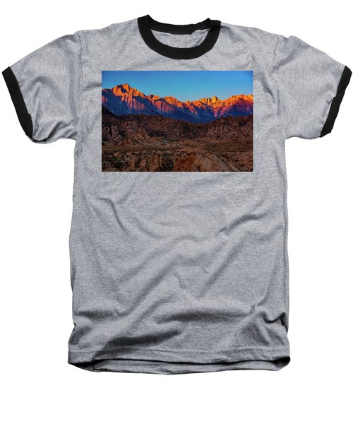 Sunrise Illuminating The Sierra Baseball T-Shirt