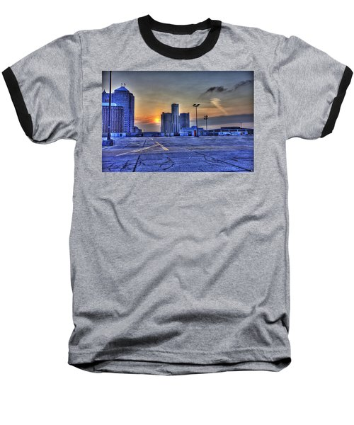 Sunrise In Detroit Mi Baseball T-Shirt by Nicholas  Grunas