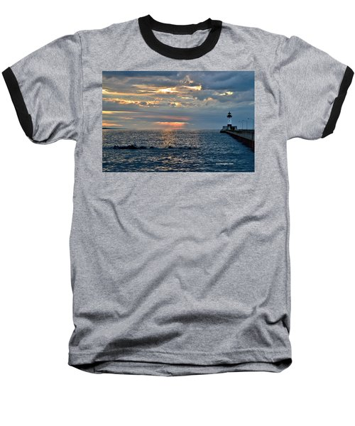 Sunrise In Duluth Baseball T-Shirt