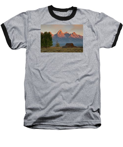 Baseball T-Shirt featuring the photograph Sunrise In Jackson Hole by Steve Stuller