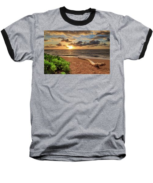 Baseball T-Shirt featuring the photograph Sunrise In Kapaa by James Eddy