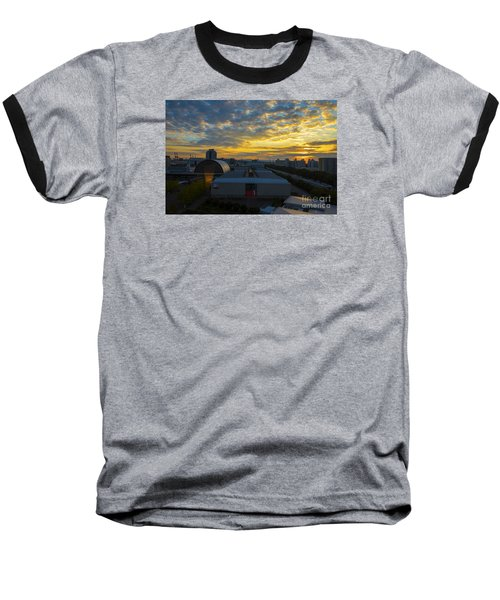 Baseball T-Shirt featuring the photograph Sunrise In Osaka by Pravine Chester