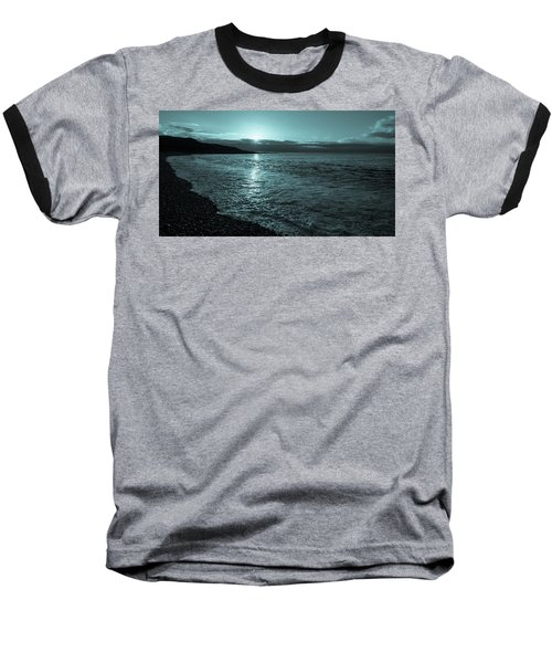 Baseball T-Shirt featuring the photograph Sunrise In Stonehaven B-w by Sergey Simanovsky