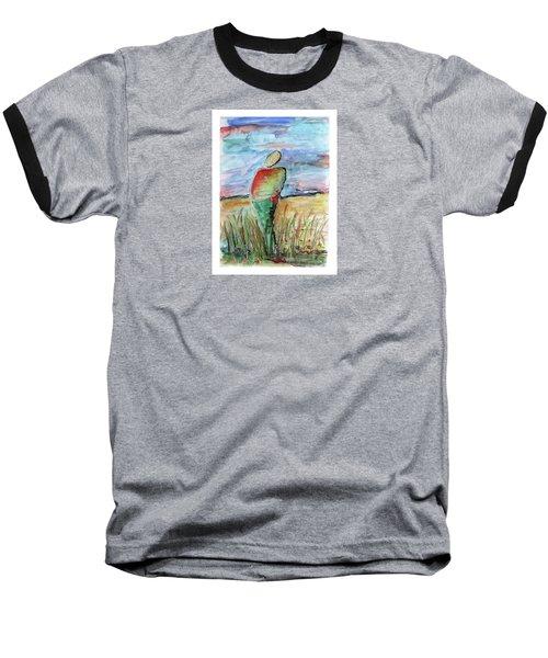 Sunrise In The Grasses Baseball T-Shirt