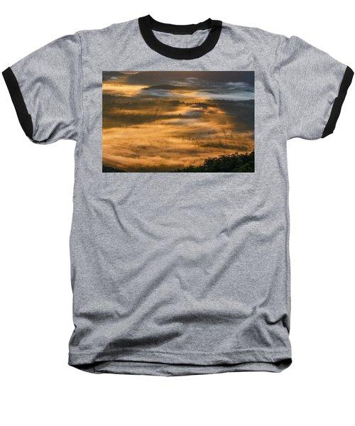 Sunrise In The Valley Baseball T-Shirt