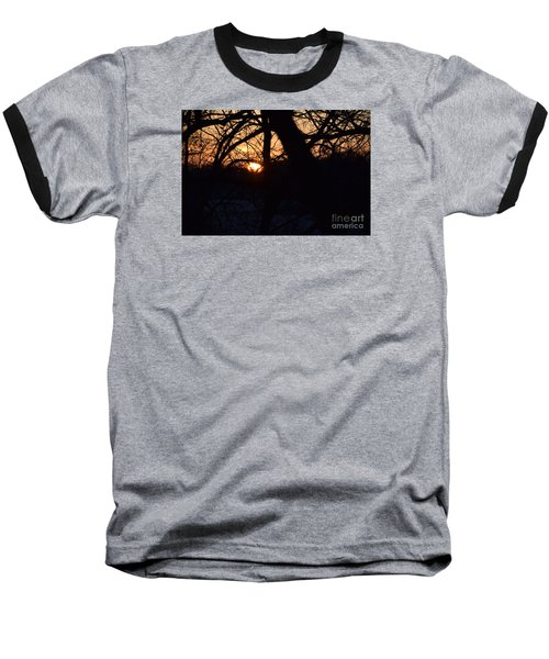 Sunrise In The Woods Baseball T-Shirt