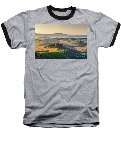 Sunrise In Tuscany Baseball T-Shirt by JR Photography