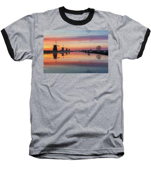 Sunrise Kinderdijk Baseball T-Shirt