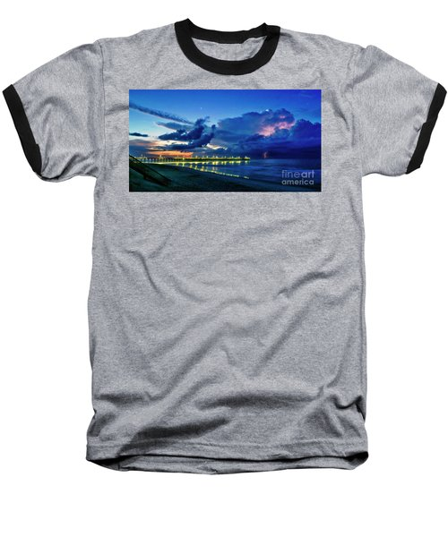 Sunrise Lightning Baseball T-Shirt