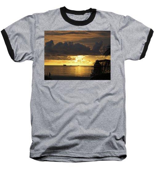 Sunrise Miami Beach Baseball T-Shirt