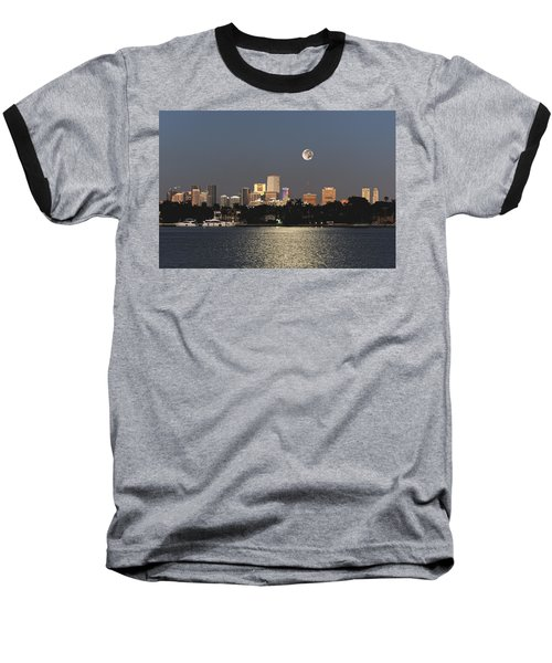 Sunrise Moon Over Miami Baseball T-Shirt