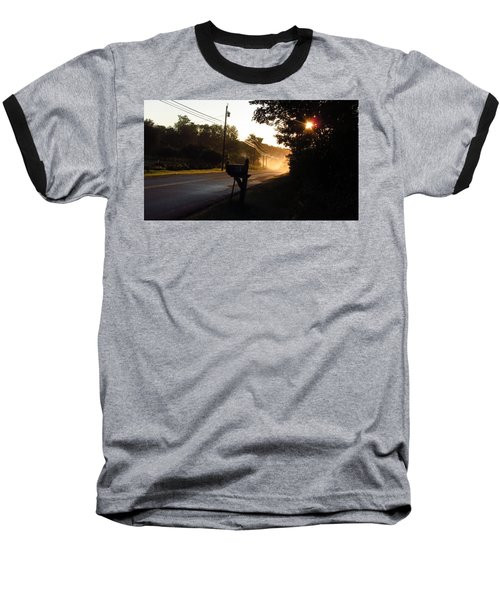 Sunrise On A Country Road Baseball T-Shirt