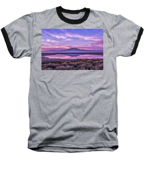 Baseball T-Shirt featuring the photograph Sunrise On Antelope Island by Kristal Kraft