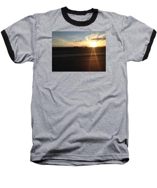 Sunrise On Asphalt Baseball T-Shirt