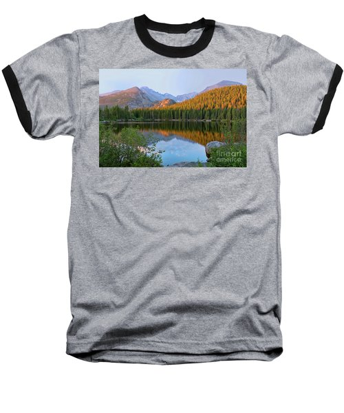 Sunrise On Bear Lake Rocky Mtns Baseball T-Shirt by Teri Brown