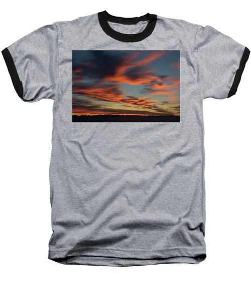 Sunrise On Fire Baseball T-Shirt