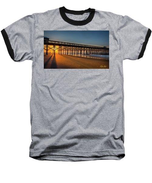 Baseball T-Shirt featuring the photograph Sunrise On Folly Island by Rikk Flohr