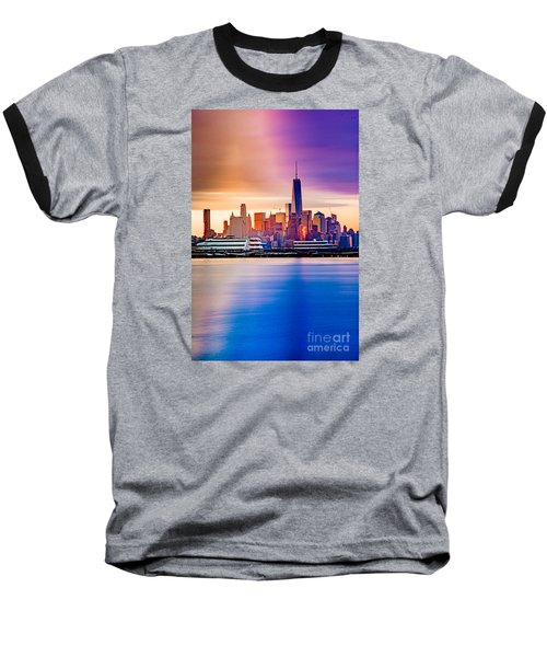 Sunrise On Freedom Baseball T-Shirt
