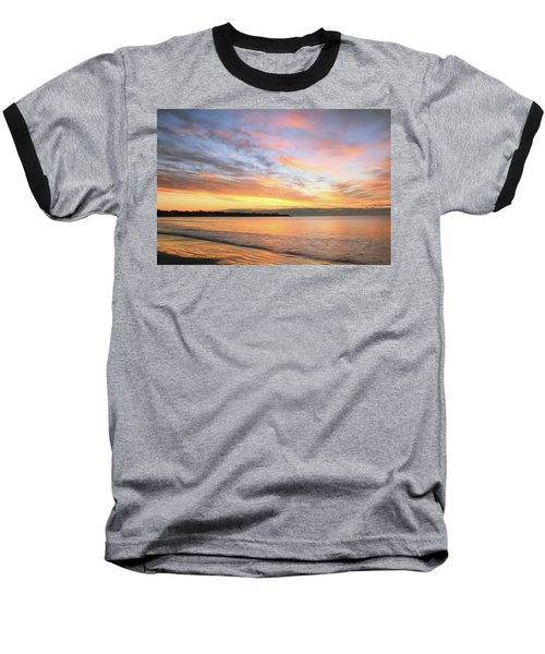 Baseball T-Shirt featuring the photograph Sunrise On Middletown Rhode Island by Roupen  Baker