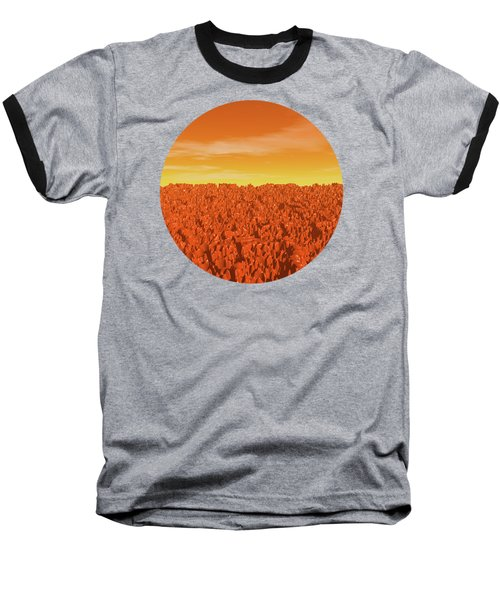 Sunrise On Planet Mars Baseball T-Shirt